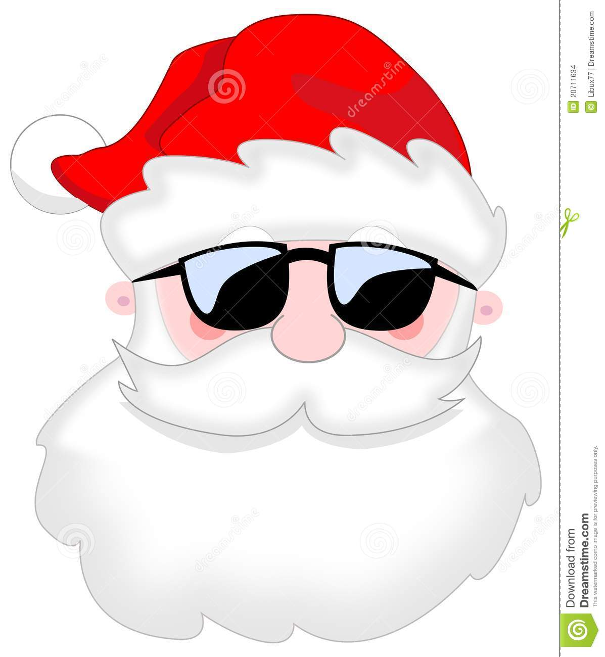 Santa claus portrait sunglasses isolated stock images image 20711634 - Clipart visage ...