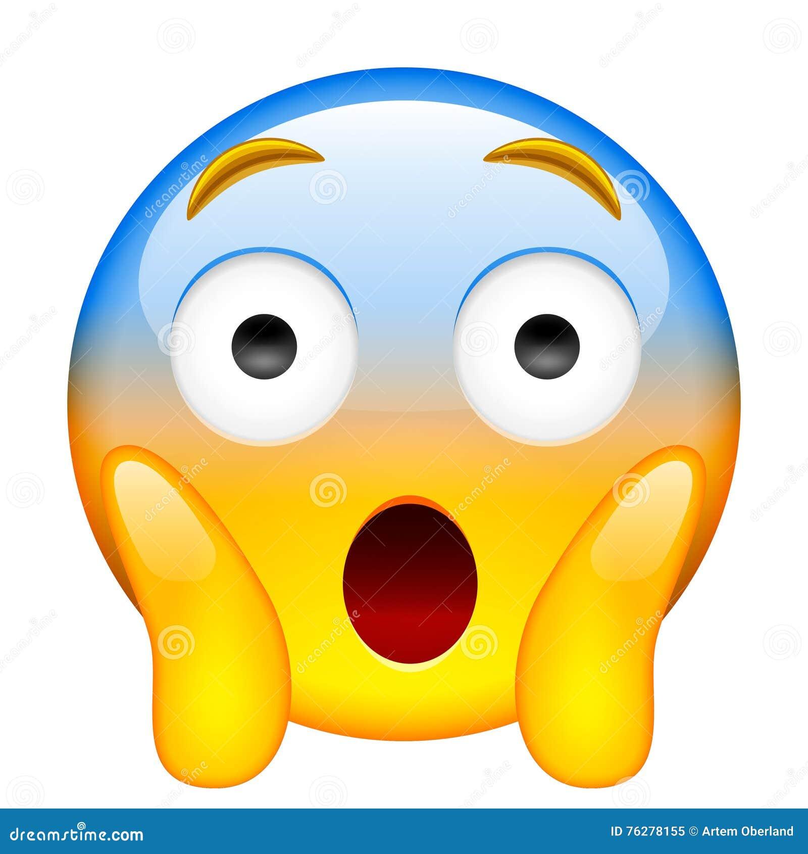 Face Screaming In Fear Screaming In Fear Emoji Stock Illustration