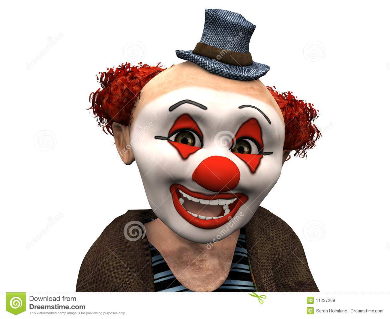 the face of a smiling clown royalty free stock images
