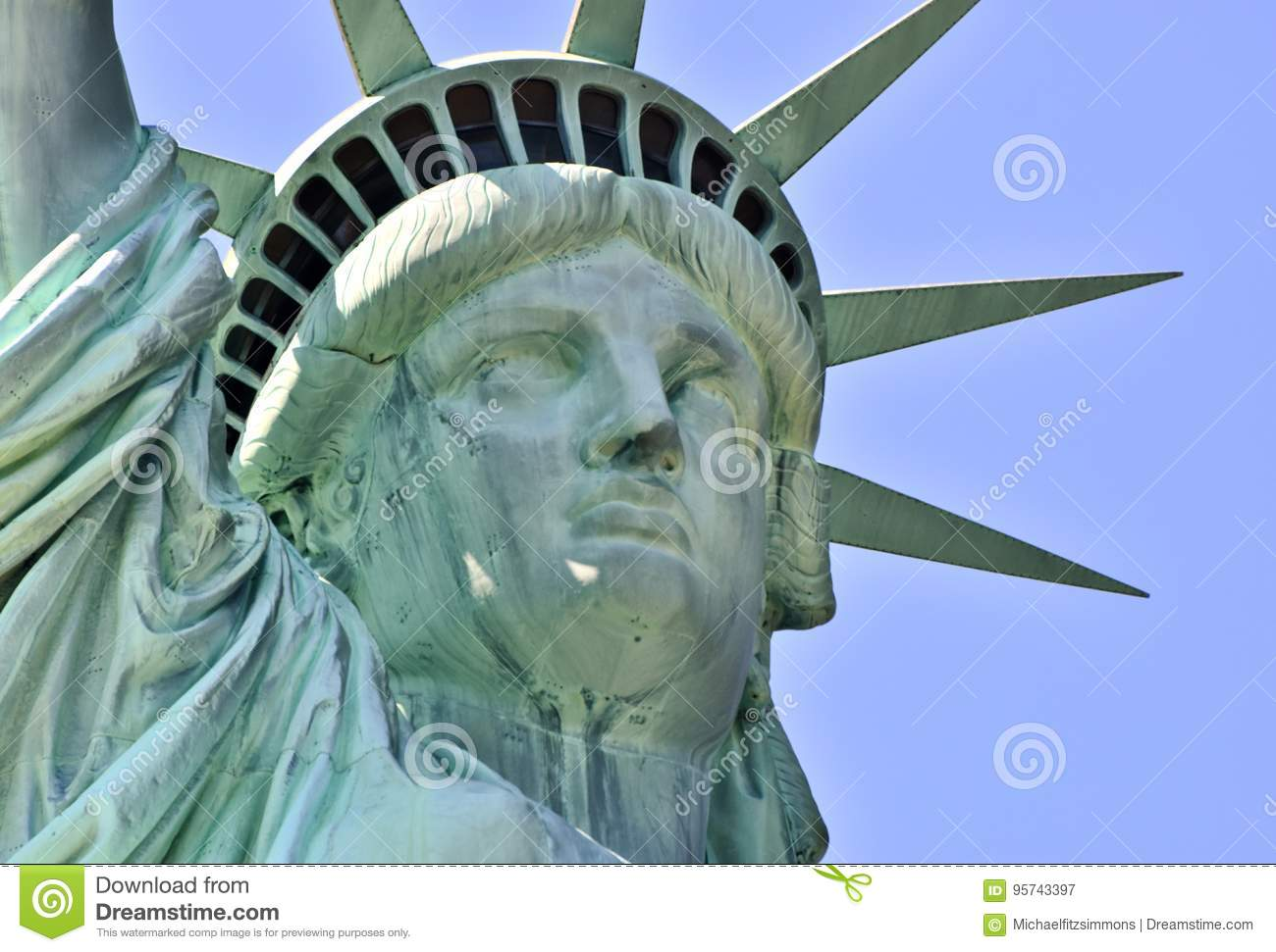 81c877cf8dce1 Face Of The Statue Of Liberty Stock Image - Image of green, york ...