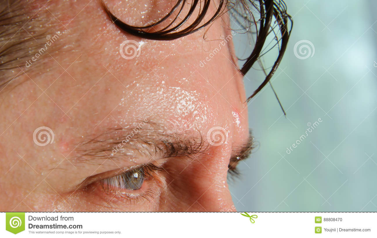 Download Face of very sweating man stock photo. Image of person - 88808470