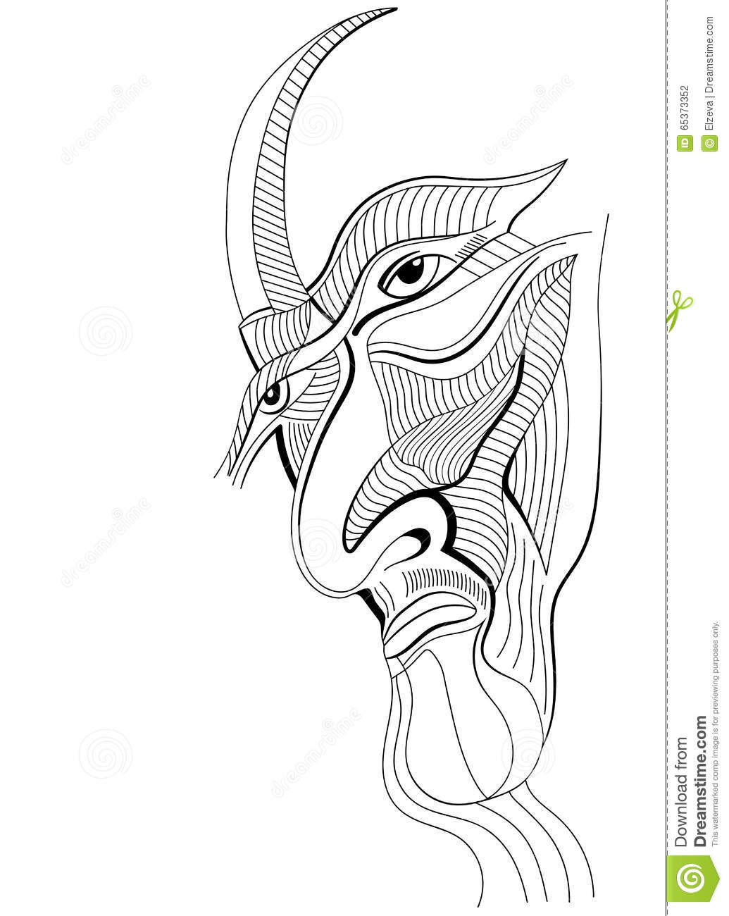 54c7a4cc9e5a3 Face a villain in abstract style. Hand drawn graphic design, can use for  posters cards, stickers, illustrations, as decorative element.