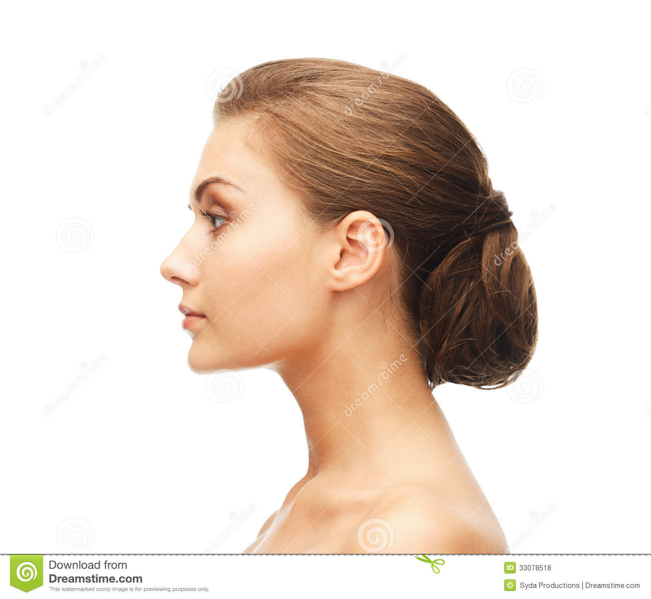 Face of woman with beautiful hairstyle stock photo image 33078518 - Foto poile ...