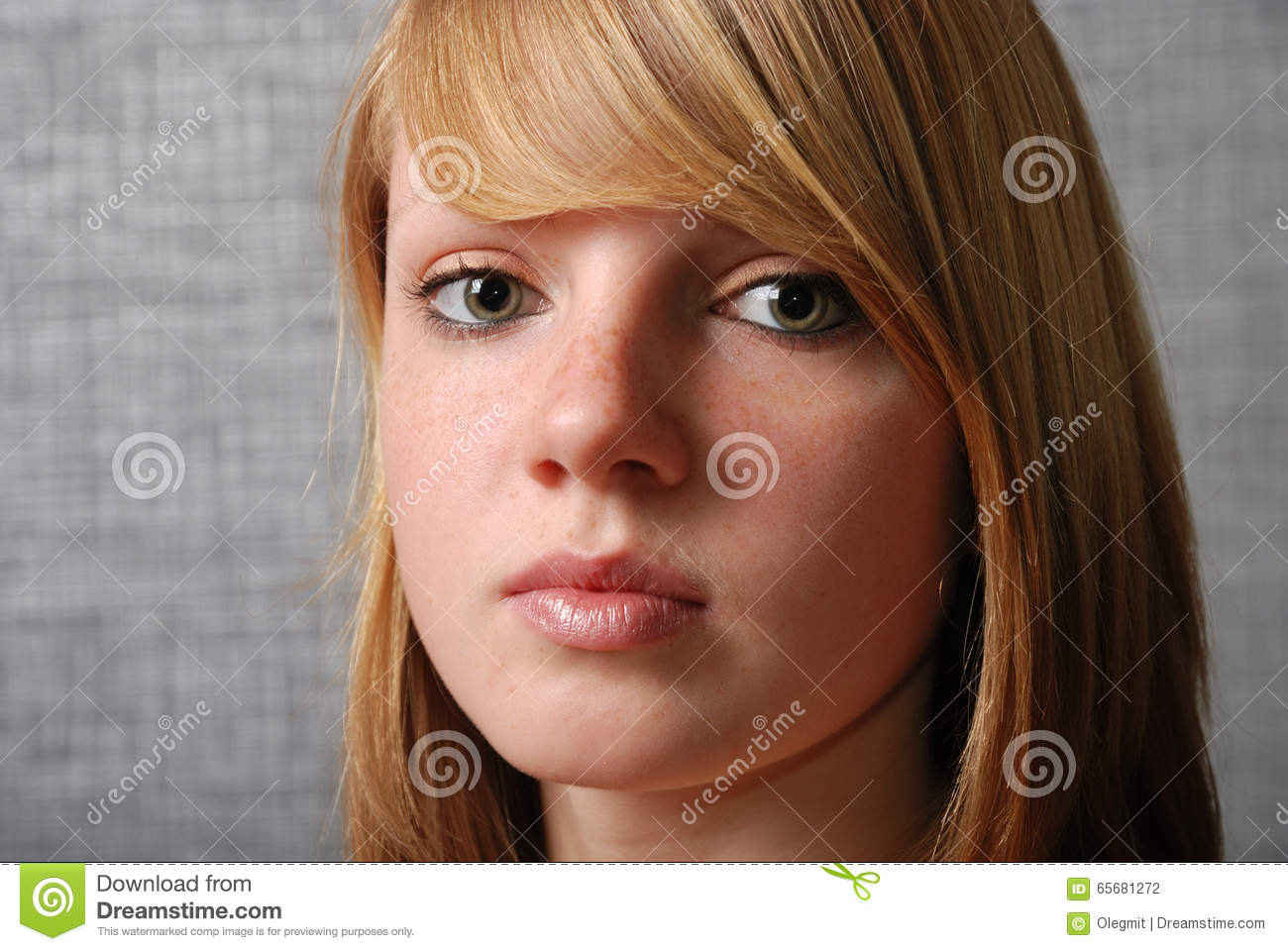 Face Of The Young Blonde Teen Stock Photo - Image Of Close, Youth 65681272-8686