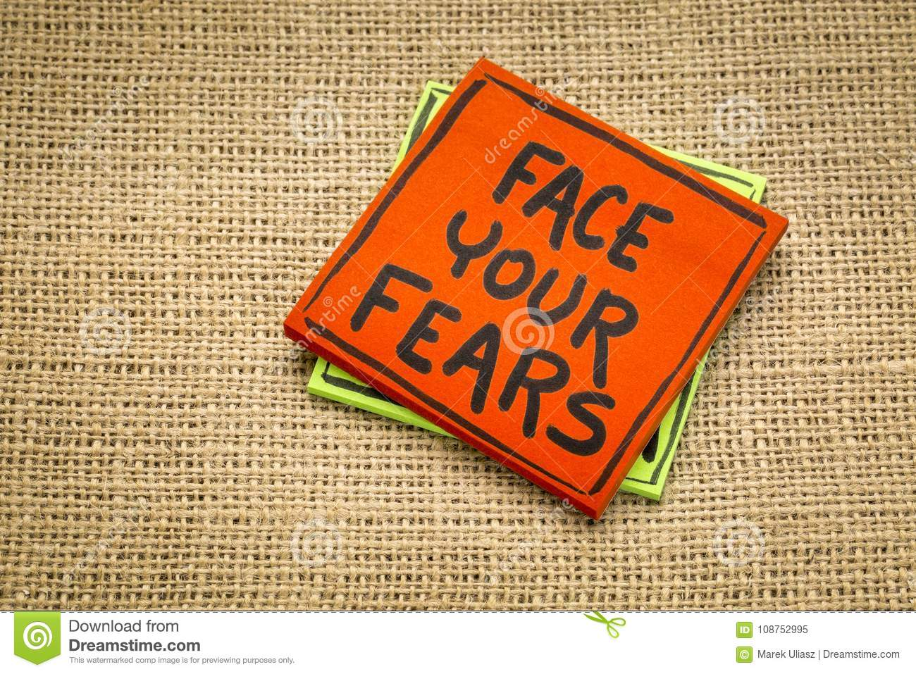 Face your fears reminder note