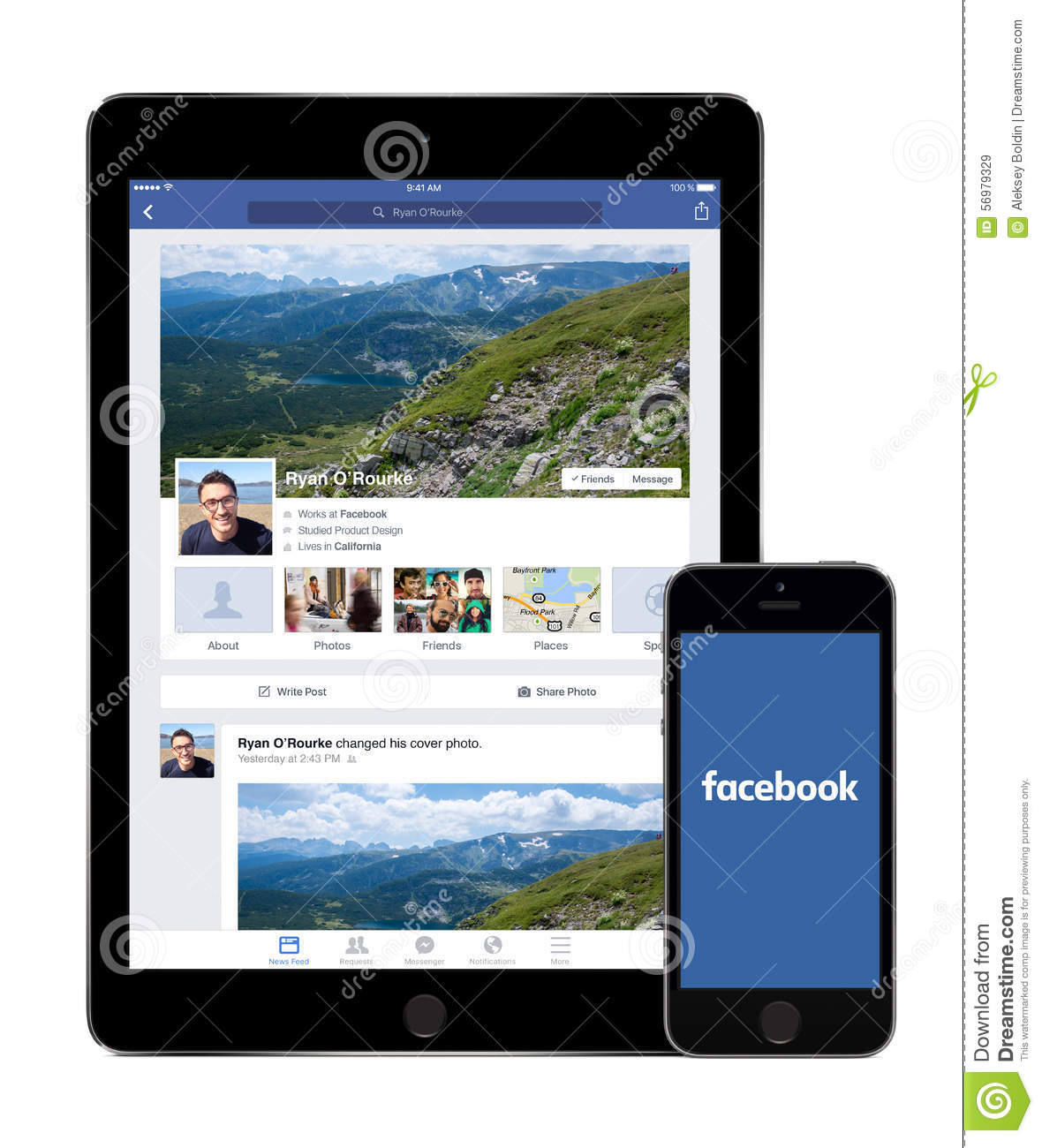 Facebook app on the apple ipad air 2 and iphone 5s displays facebook app on the apple ipad air 2 and iphone 5s displays kristyandbryce Images