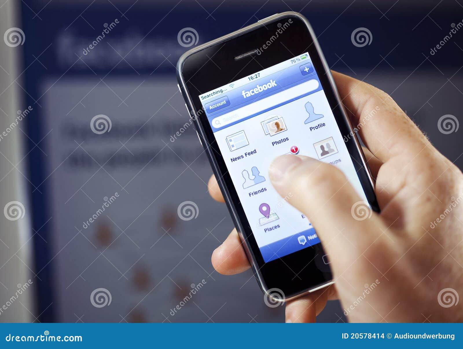 Facebook App on Apple iPhone