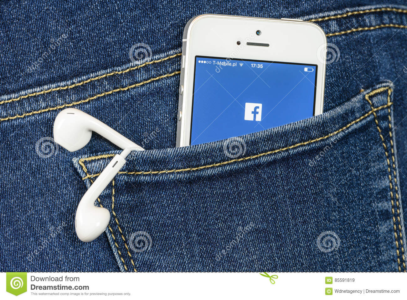 Facebook App on iPhone SE editorial stock image  Image of computer