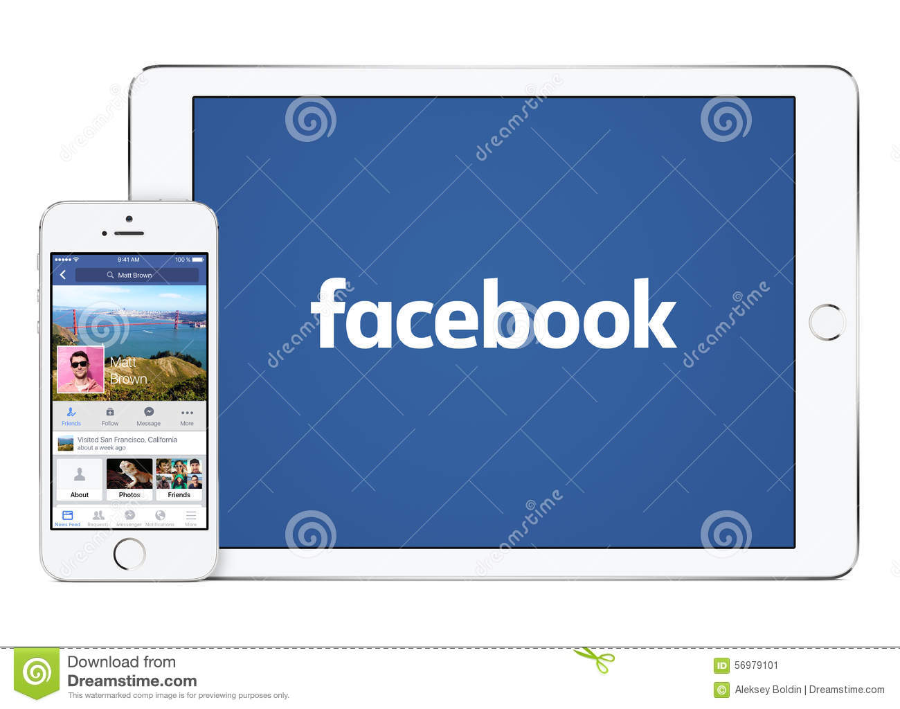 Facebook App On White Apple IPad Air 2 And IPhone 5s Editorial Photo - Image 56979101