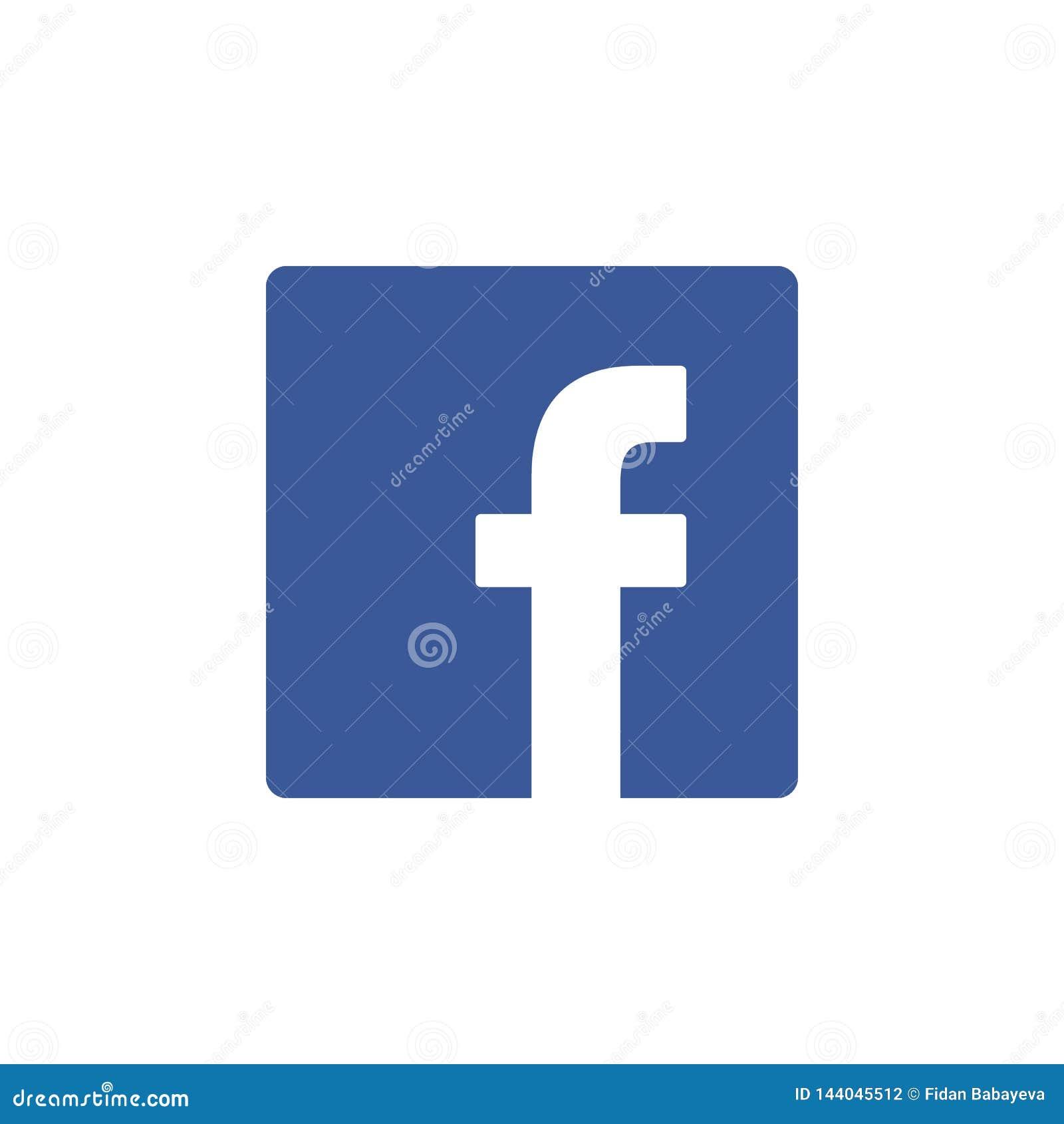 Facebook coloreó el icono Elemento del medios icono social del ejemplo de los logotipos Las muestras y los símbolos se pueden uti