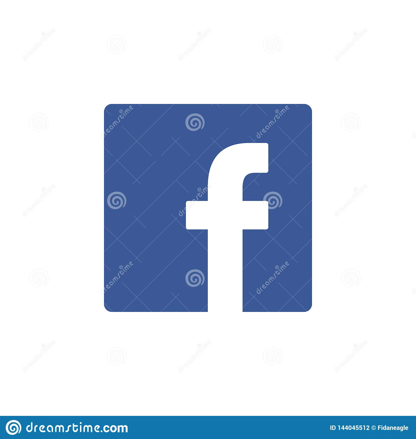 Facebook Colored Icon Element Of Social Media Logos Illustration