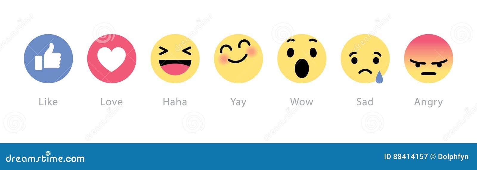 Facebook desarrolla cinco nuevos botones de las reacciones