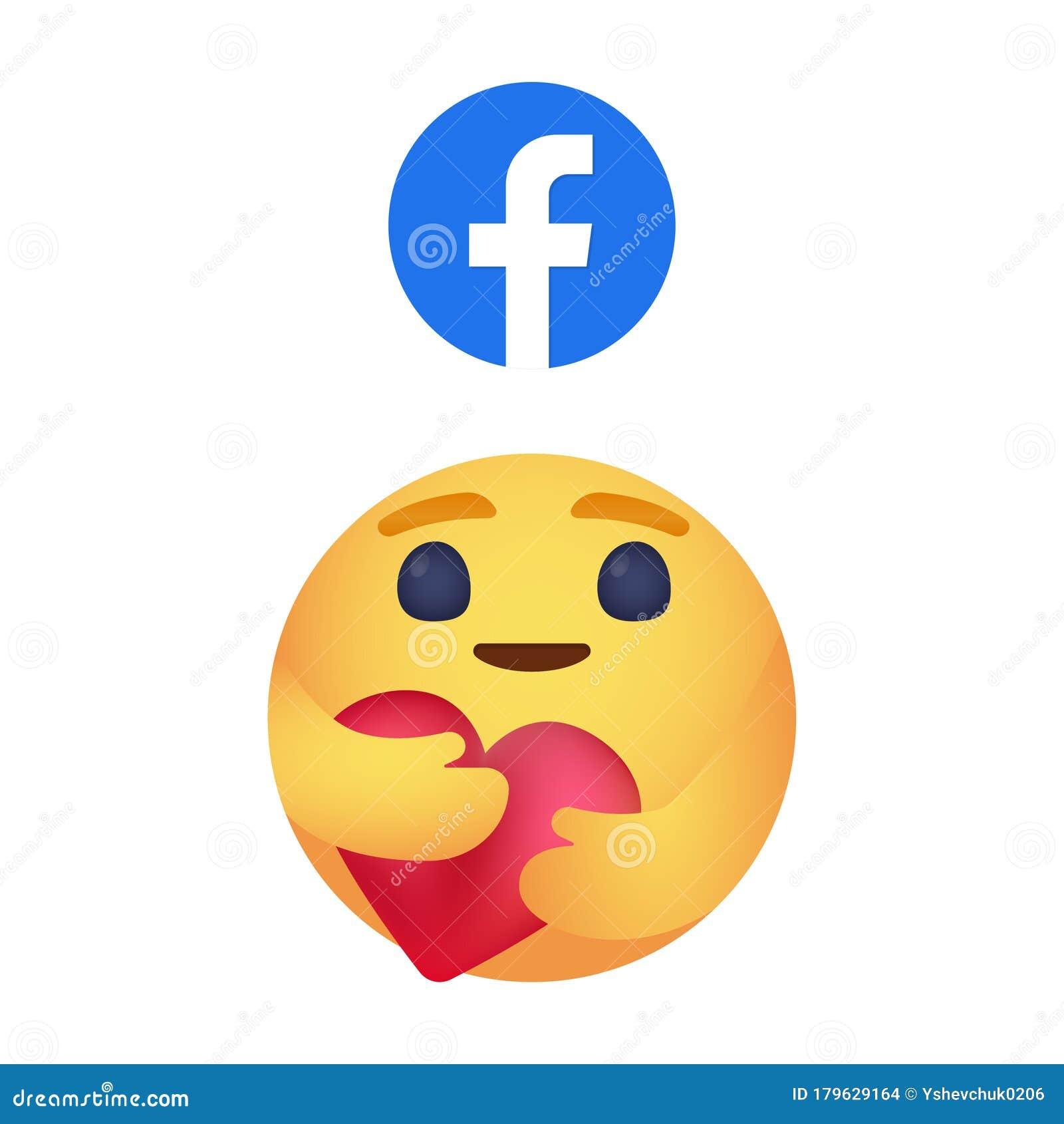Facebook Emoticon Button Care Emoji Reaction For Social Network Kyiv Ukraine April 18 2020 Editorial Stock Image Illustration Of Facebook Emoji 179629164
