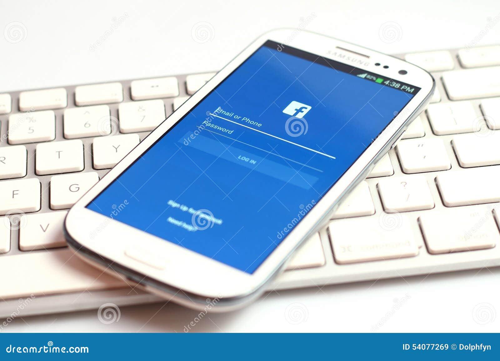Facebook-het scherm