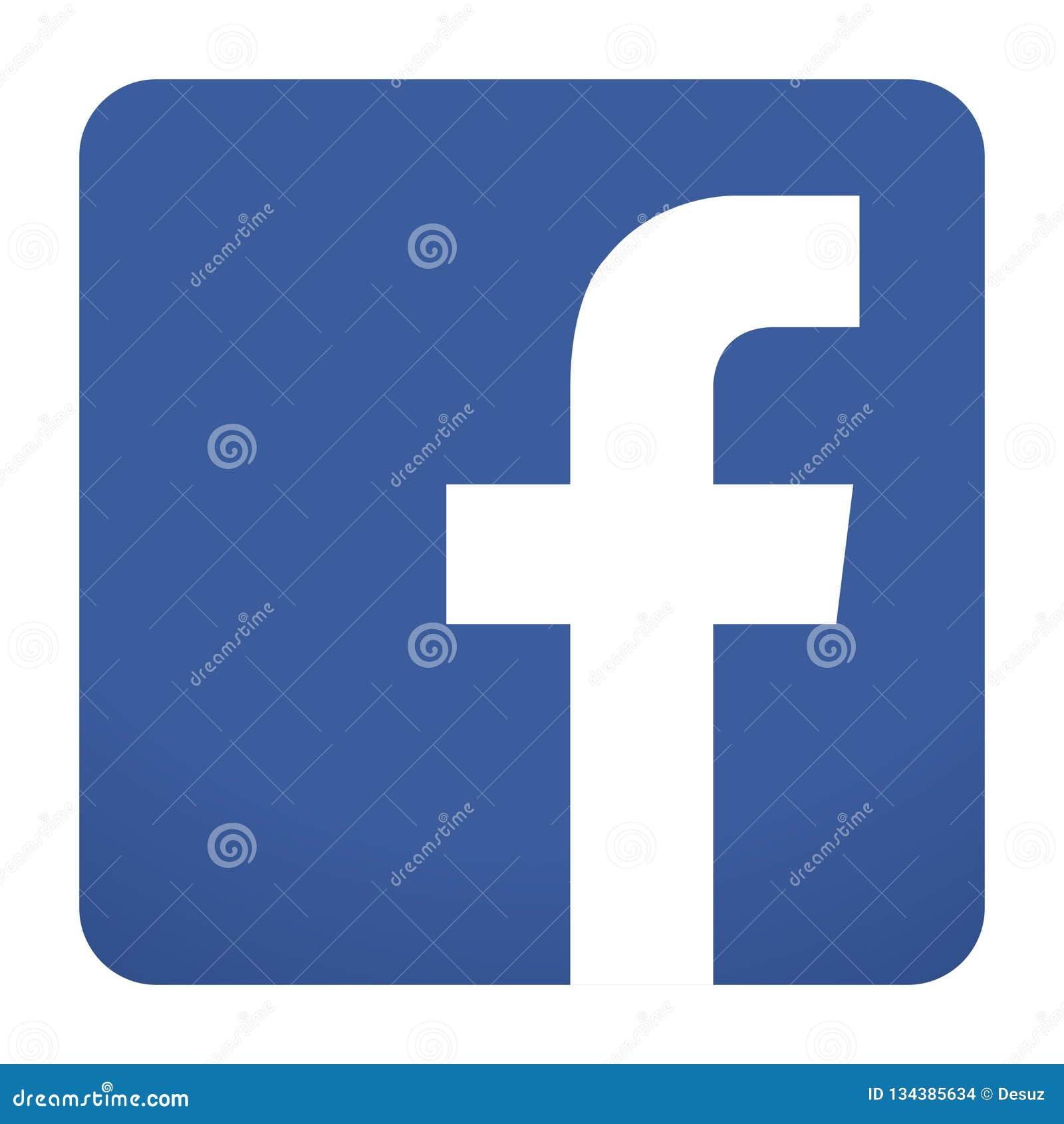 Facebook ikony wektor