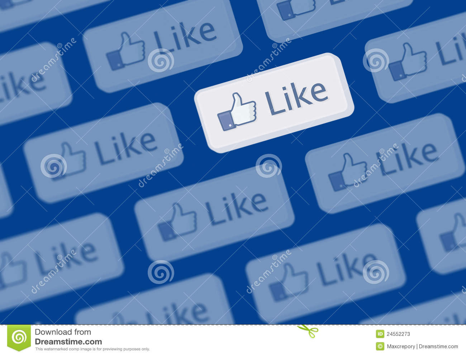 Facebook jak logo ściana