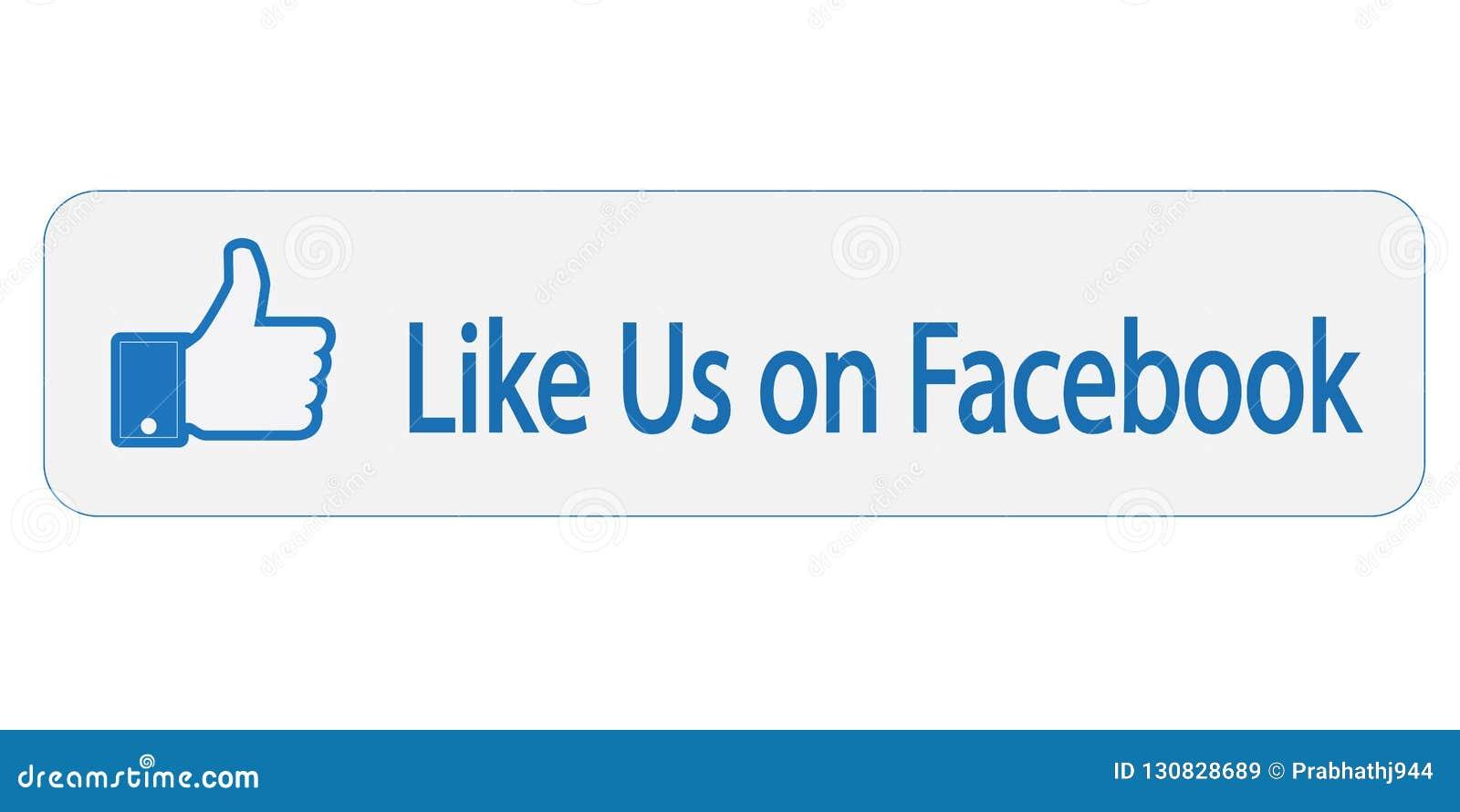 Facebook le gusta nosotros en muestra