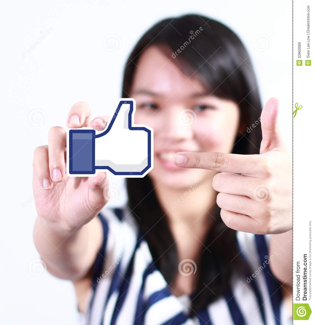 Facebook Like Button editorial stock image  Image of blue