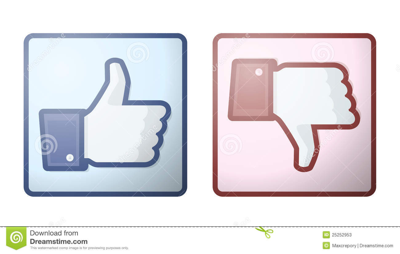 Hoe Emoji Facebook Like Dislike Thumb Up Sign Editorial Stock Photo