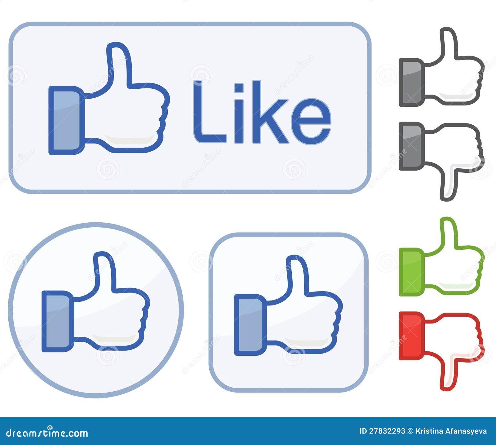Editorial stock photo facebook like icon