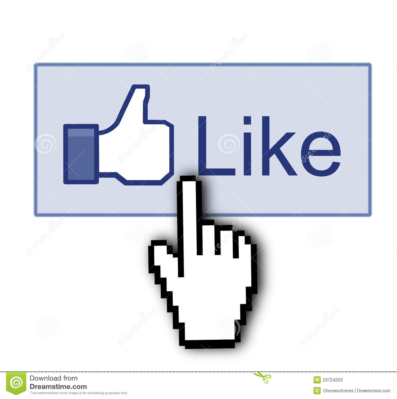 Facebook Like Thumb Up Sign Editorial Stock Photo - Image: 23724253