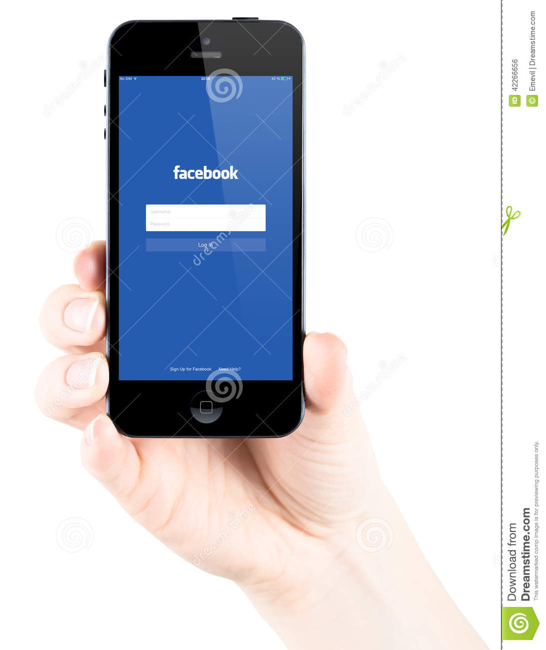 facebook mobile login iphone login page on apple iphone 5s screen editorial 14064