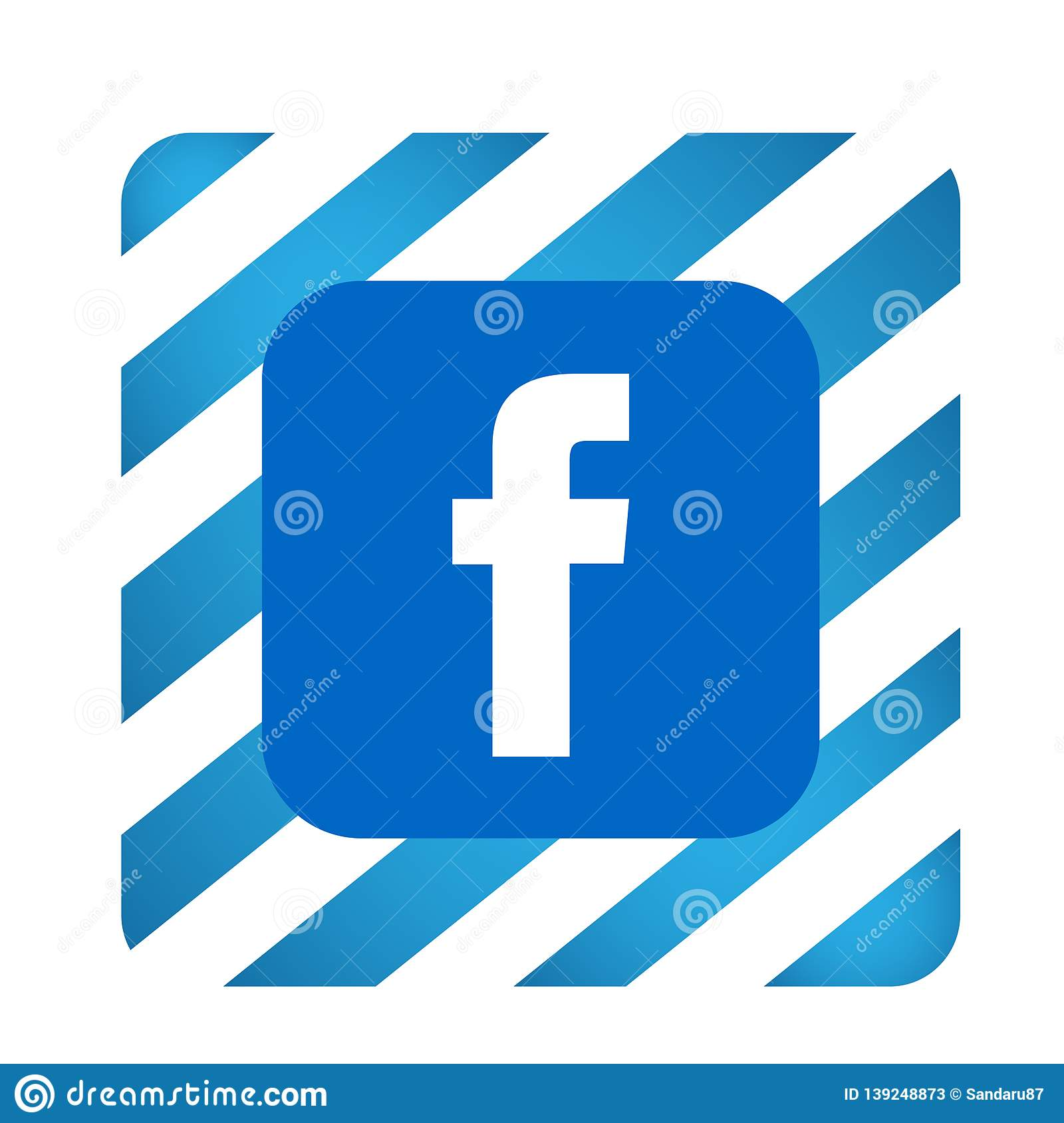 Facebook Logo Icon Vector Illustrations On White Background