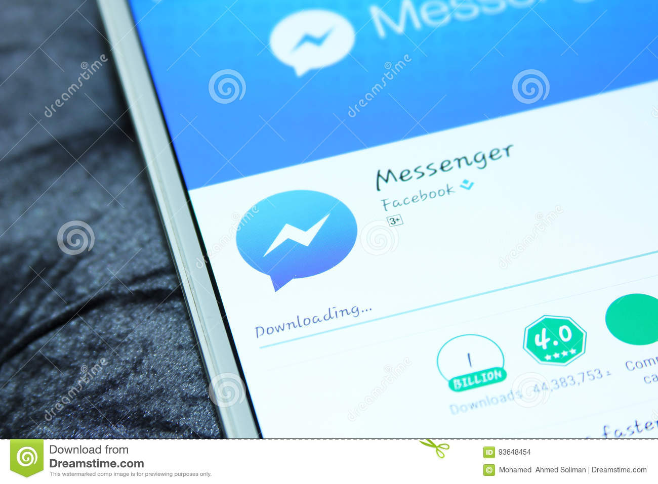 Facebook Messenger Mobile App Editorial Stock Image - Image of