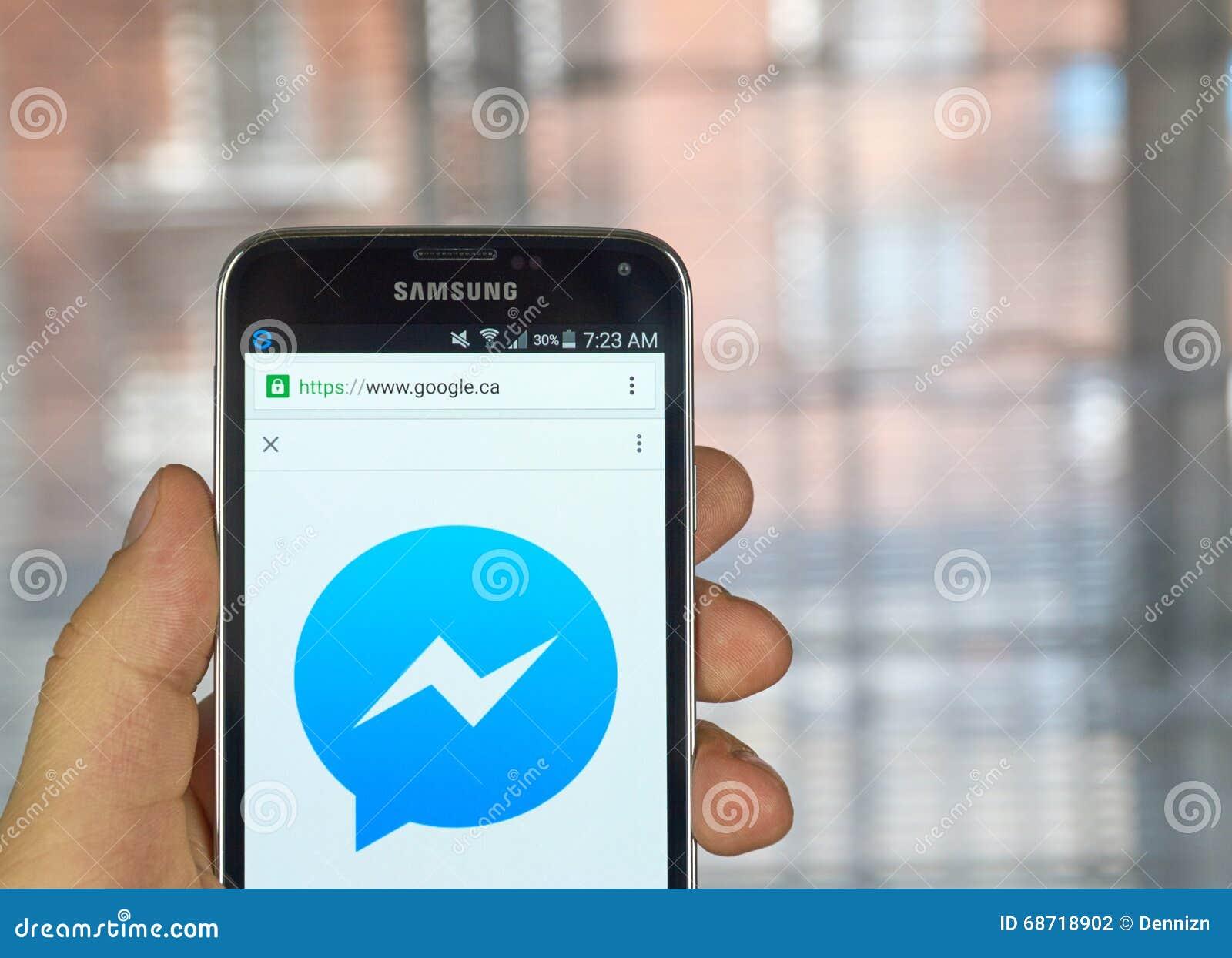 Facebook Messenger Mobile App Editorial Photography - Image