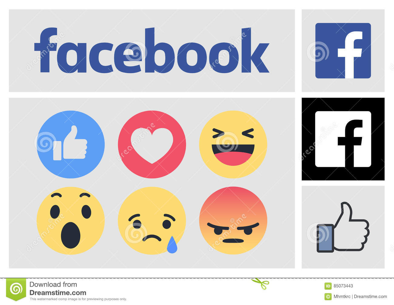 Facebook New Logo and Reactions Icons