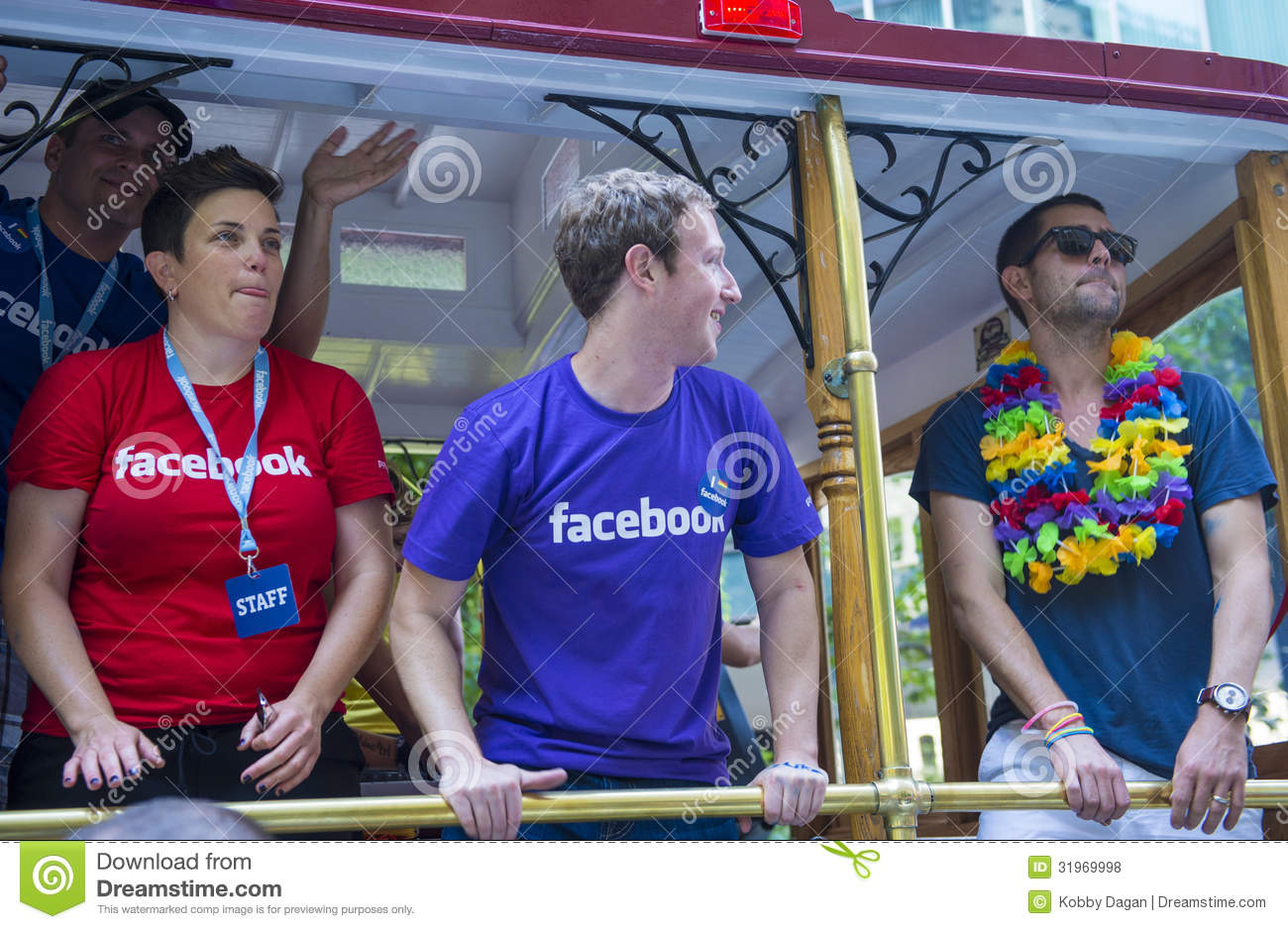 Facebook in San Francisco gay pride