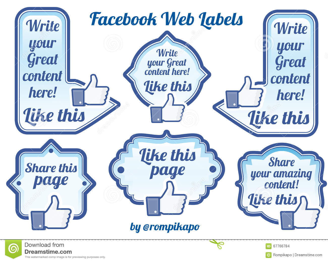 Facebook Is Great For Sharing Pictures >> Facebook Sharing Labels And Buttons Editorial Stock Image