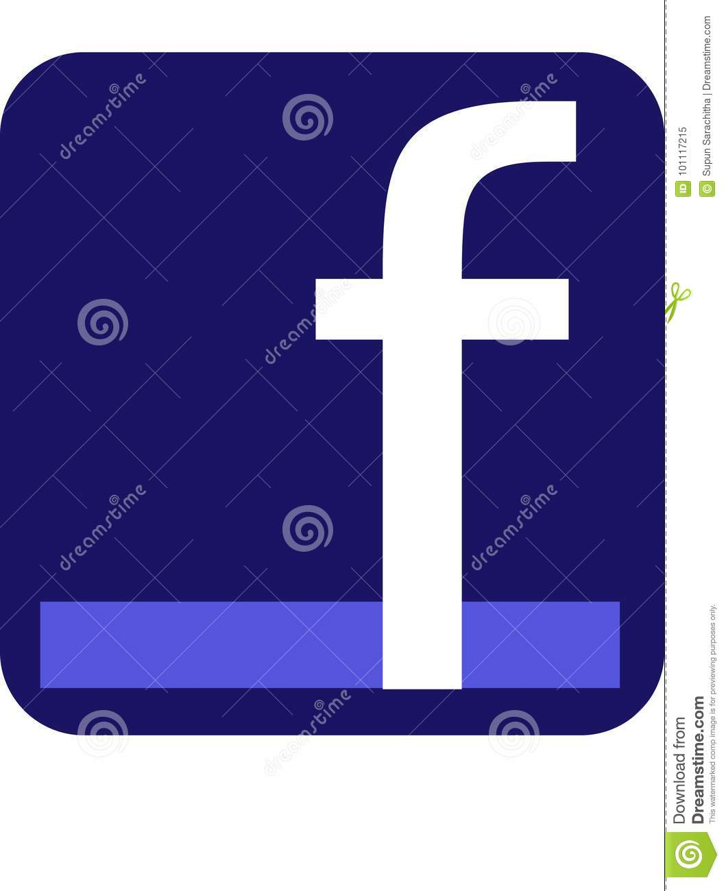 Facebook Icon editorial image  Illustration of vector