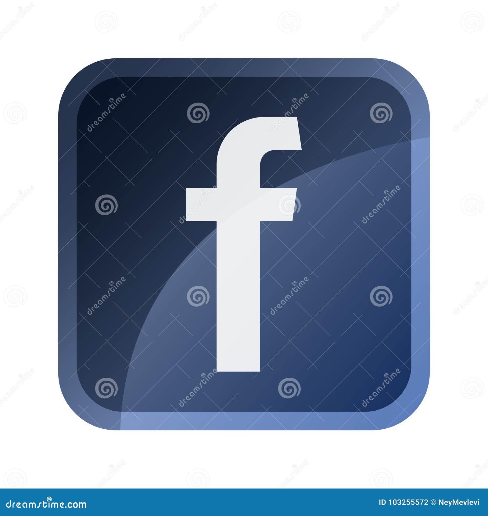 Facebook symbol, symbol, tumnagel, knapp