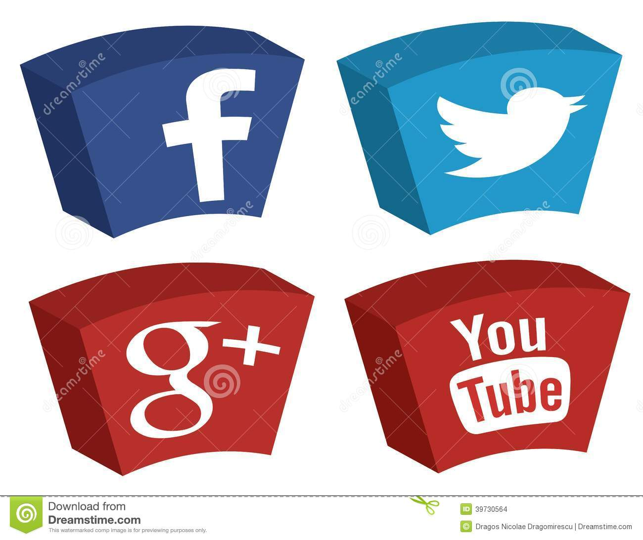 Major social media giants facebook twitter google plus and youtube