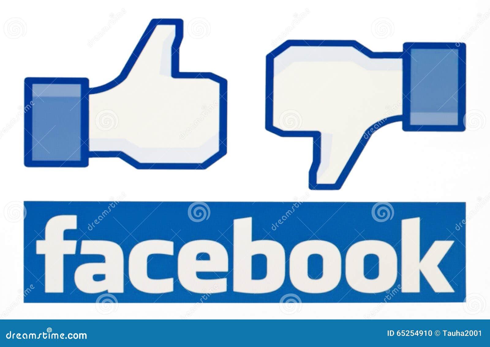 Facebook zoals embleem voor e-business, websites, mobiele toepassingen, banners, op PC-het scherm
