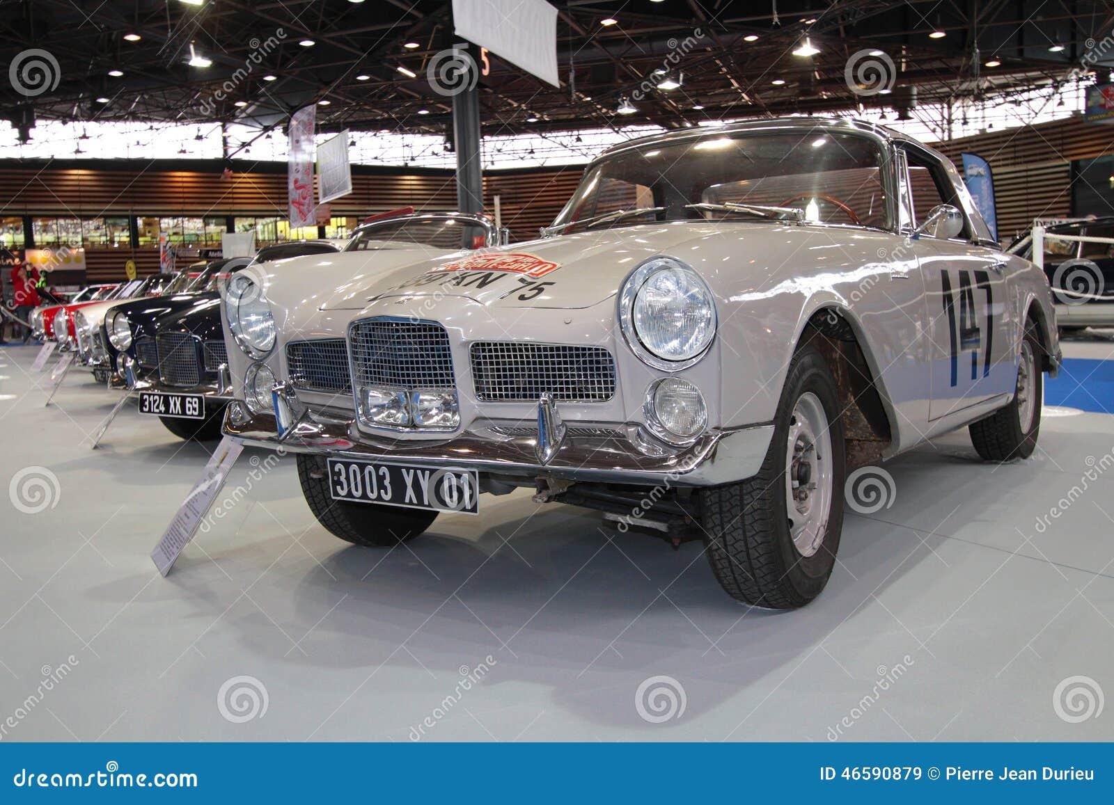 this facel vega sport car entered 1961 monte carlo rally editorial stock image image 46590879. Black Bedroom Furniture Sets. Home Design Ideas