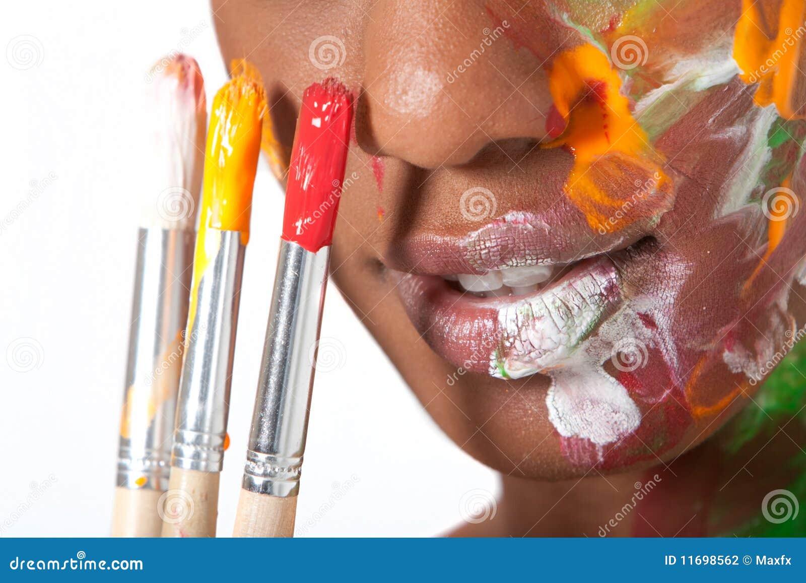 Facepaintkvinna