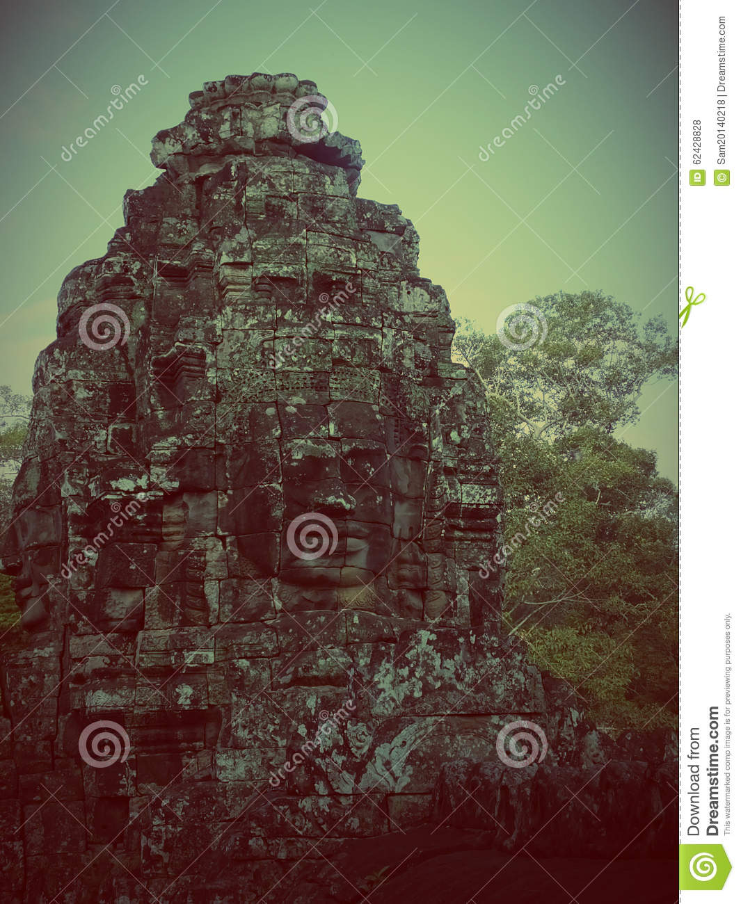 Faces of Bayon tample. Ankor wat. Cambodia.