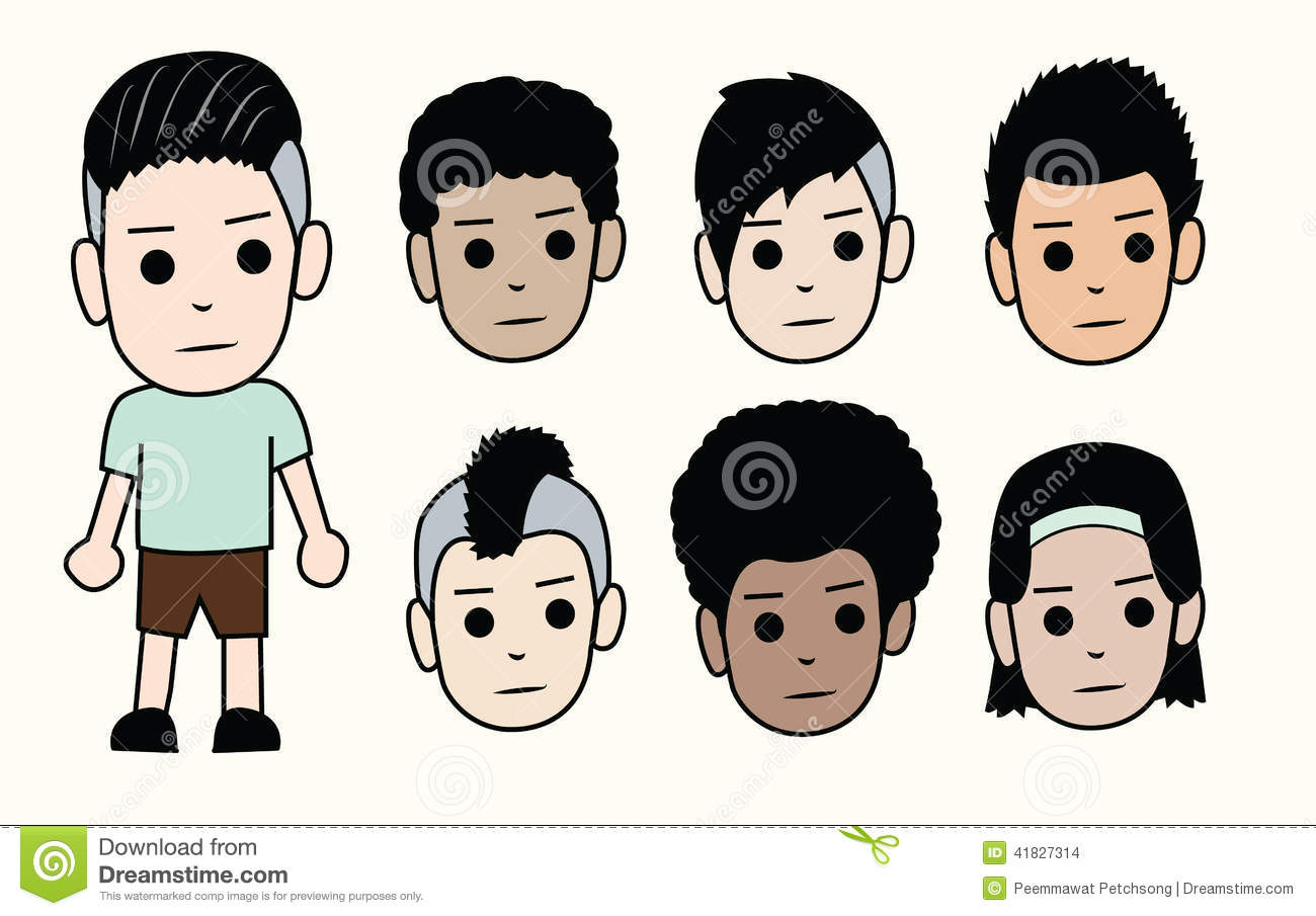Faces Of Boys  Different Types Of Men Hairstyles And Skin Colors