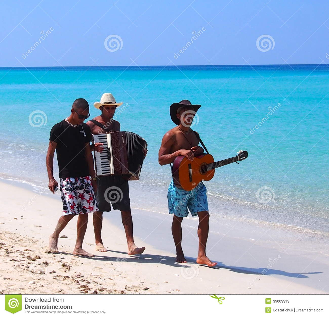 Faces Of Cuba Musicians On Beach At Playa Del Este