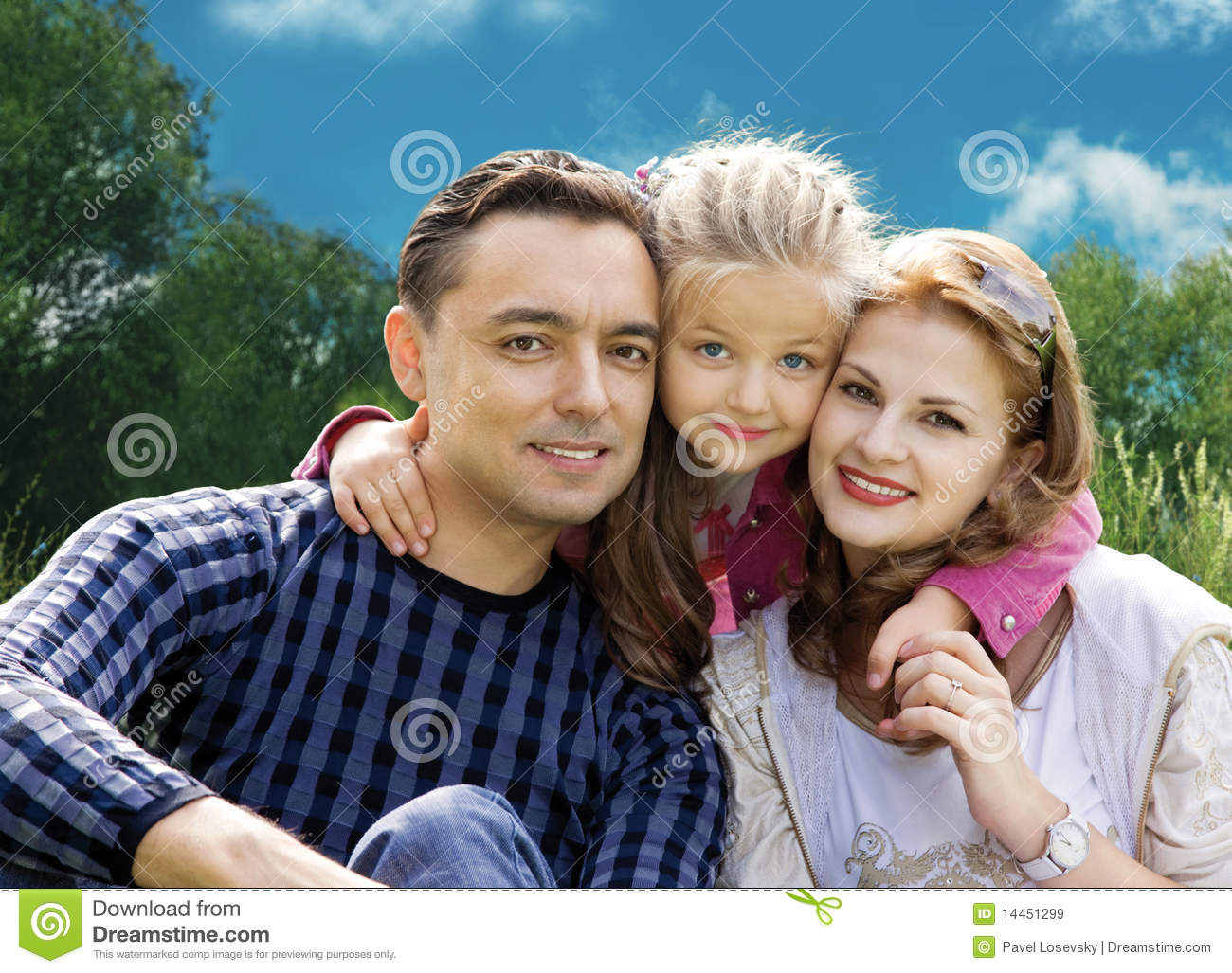 Download Faces Family With Little Girl In Park Collage Stock Image - Image of couple, adult: 14451299