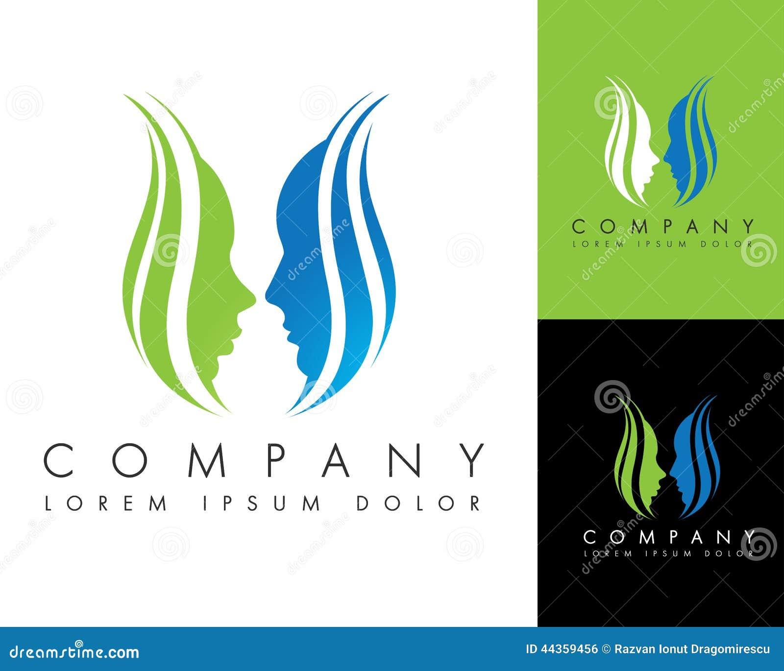 faces flower logo stock illustration illustration of icon