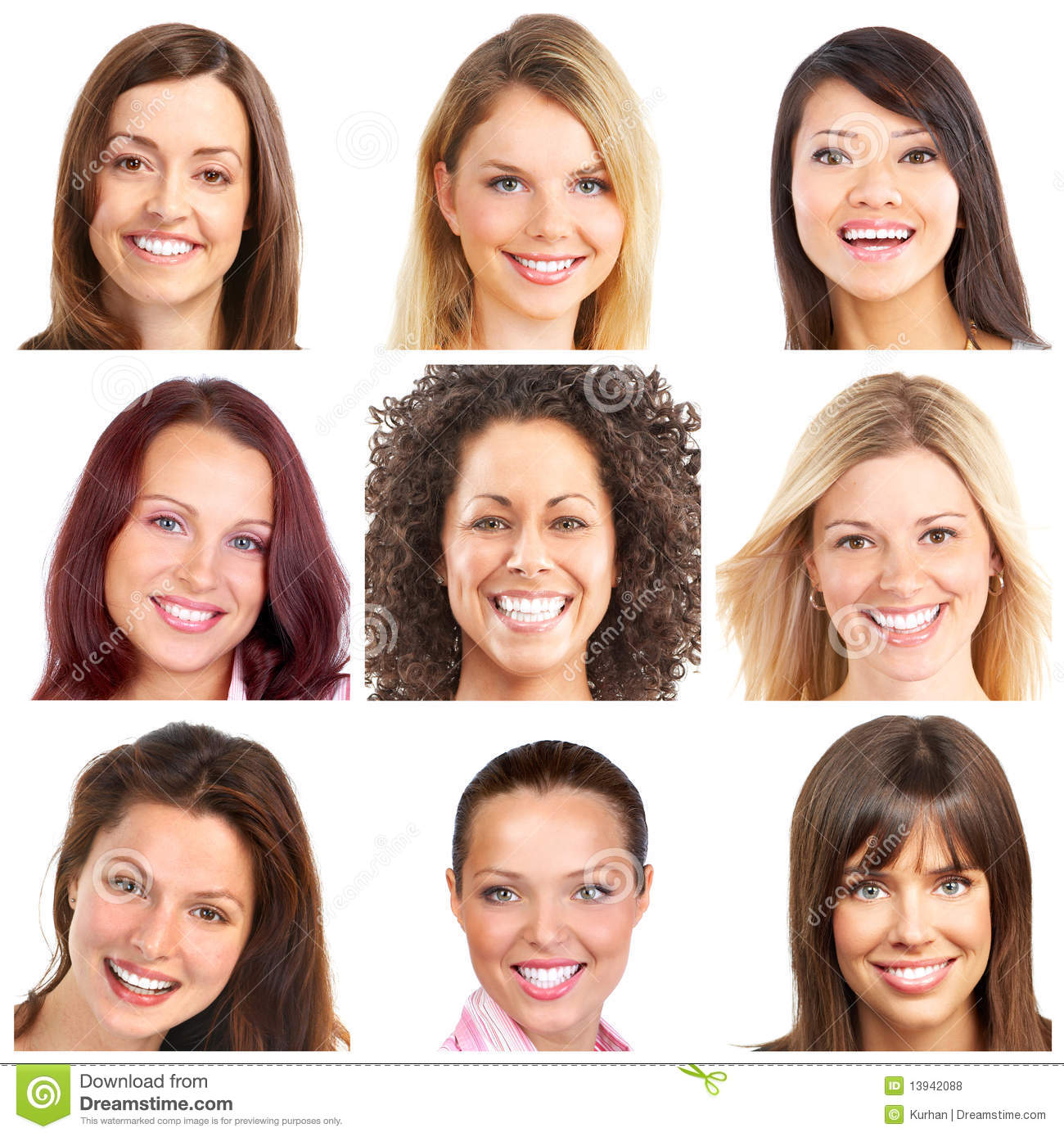 faces smiles and teeth stock photo image of female 13942088