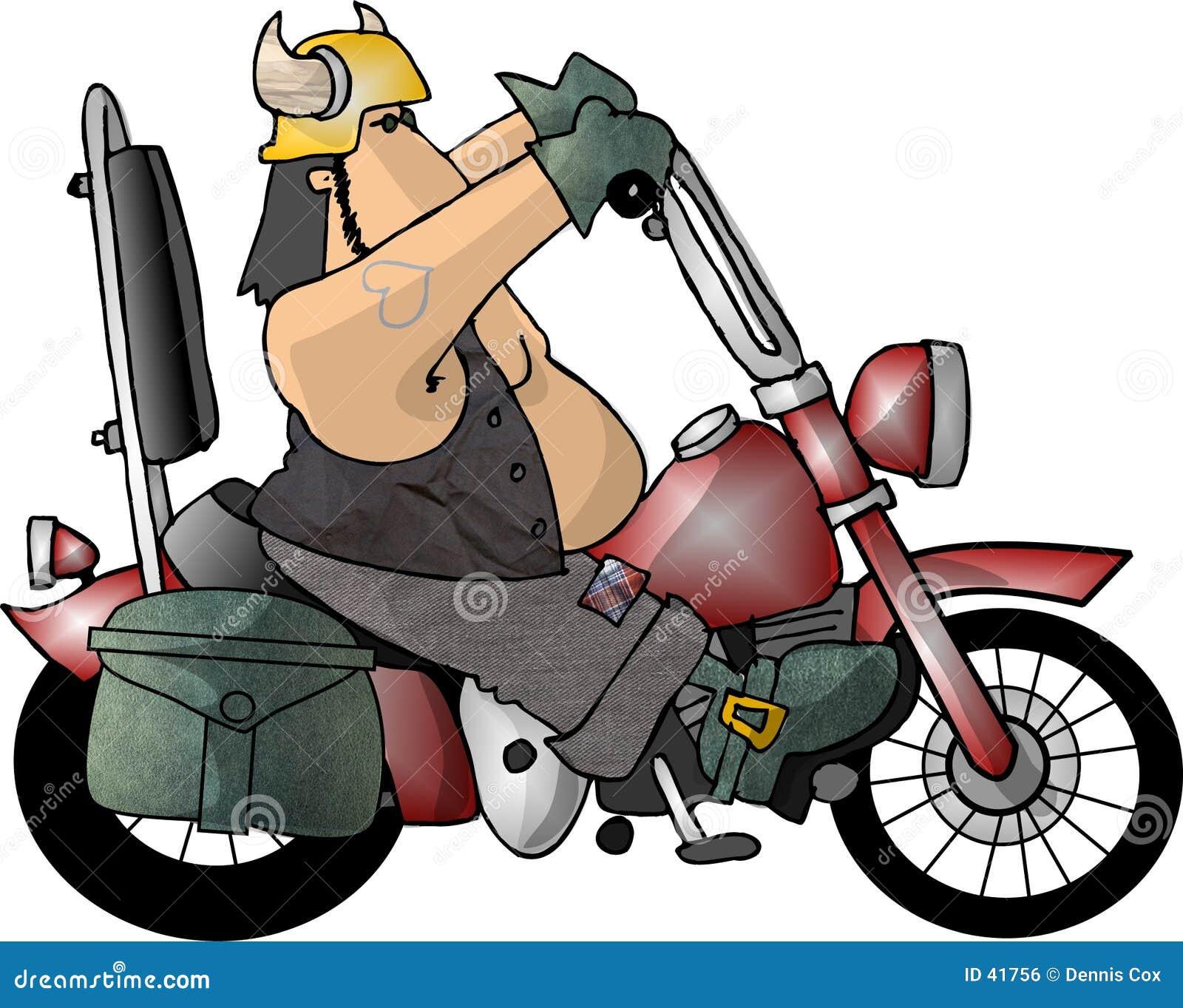 Facet motocyklistów