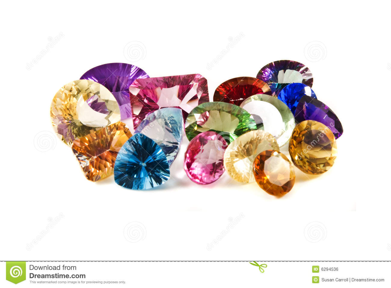 faceted gemstones royalty free stock image image 6294536