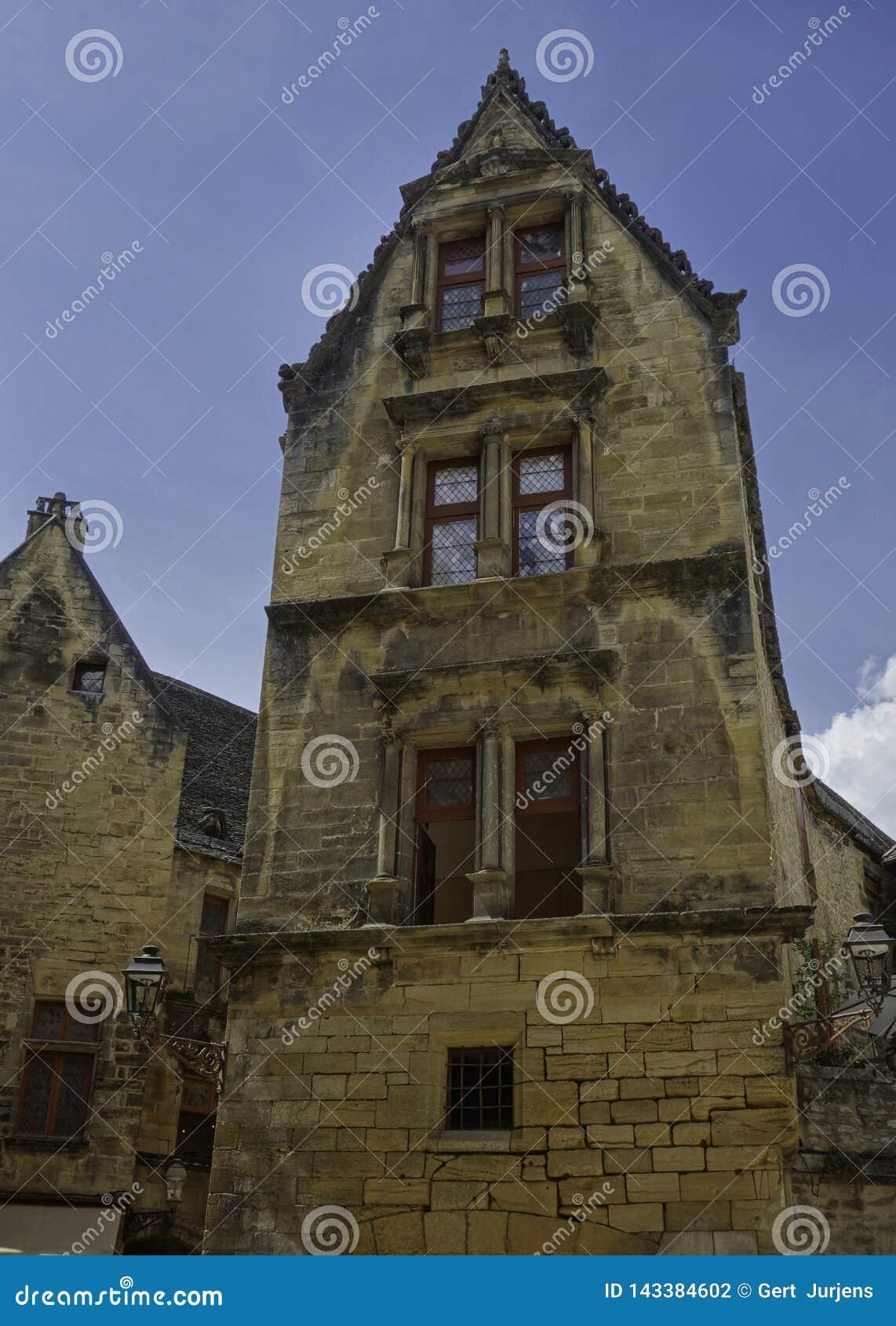 Fachada característica em Salat Dordogne