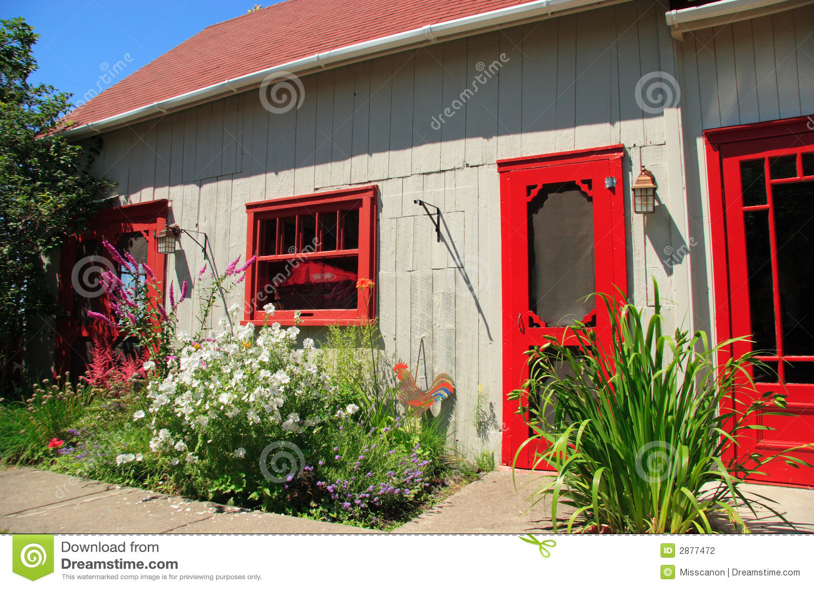 Fachada da casa de campo fotografia de stock imagem 2877472 for Fachada de casas