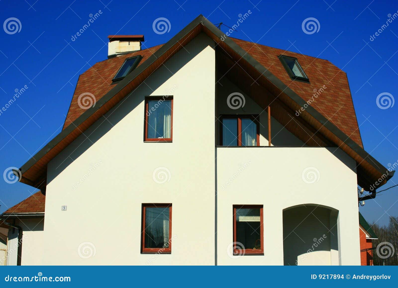Fachada da casa de campo imagens de stock imagem 9217894 for Fachada casa campo