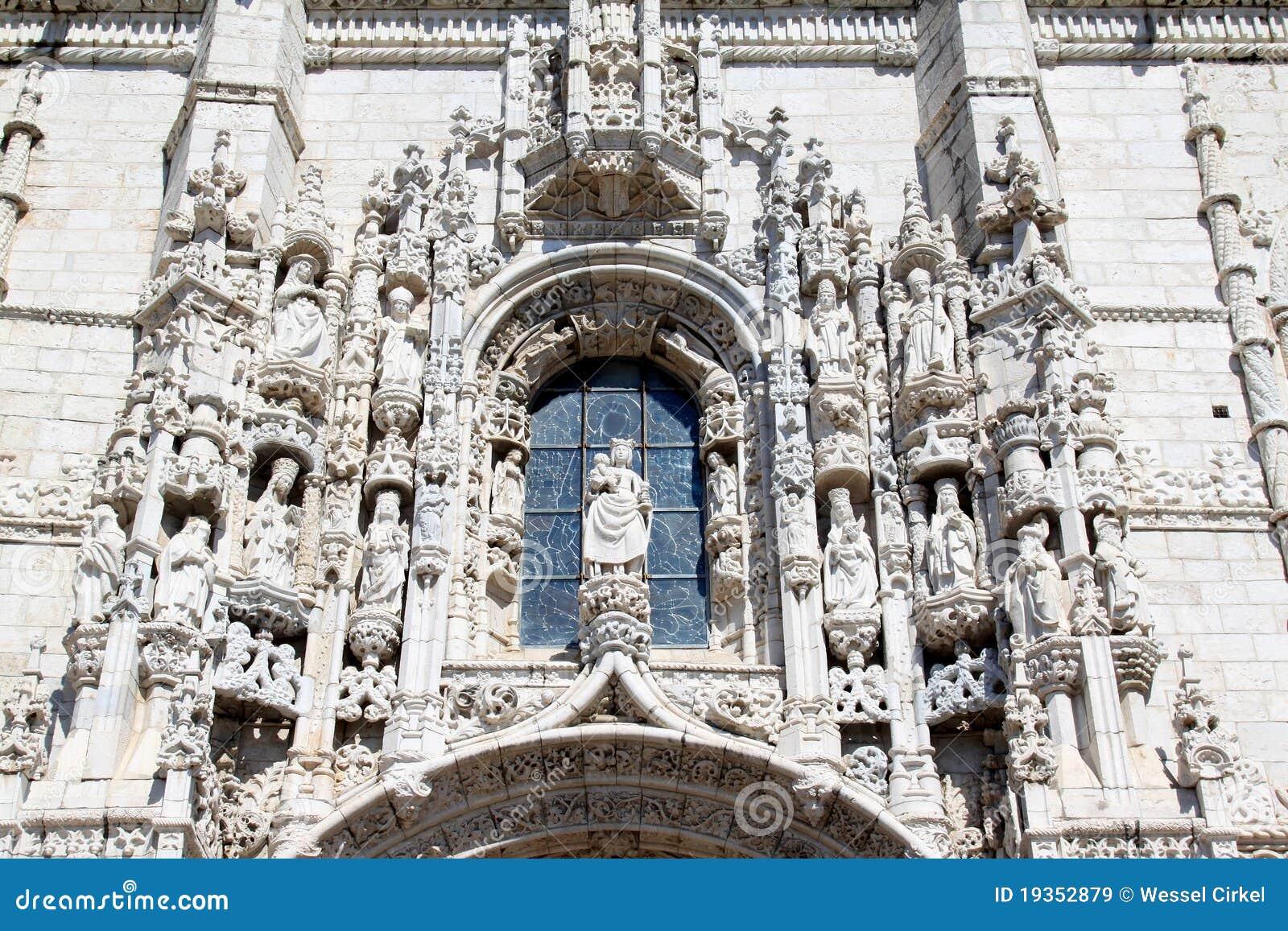 Fachada de dos Jeronimos de Mosteiro, Belém, Portugal
